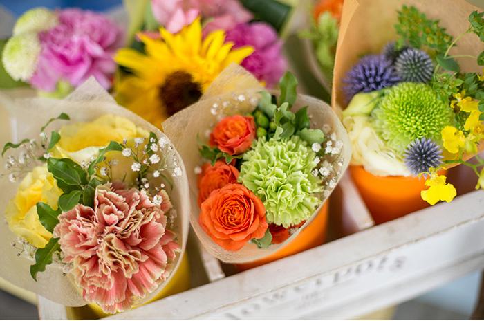 珍しい品種と確かなアレンジ力でここにしかない花を取り揃え